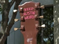 Keep Austin Weird guitar